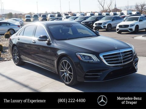 Certified Pre-Owned 2019 Mercedes-Benz S-Class S 560 4MATIC Sedan
